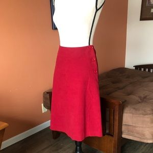 BODEN scarlet red a-line style skirt